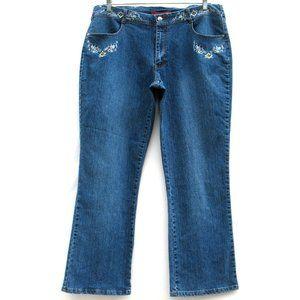 Cosmopolitan Jeanswear Floral Embroider Tag Sz 20